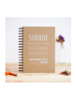 In the moment - Abonnement 1 an - 6 n° + le cahier kraft Mr Wonderful*